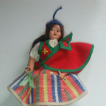 Unknown old solid plastic National Costume Doll #1 7 Inch